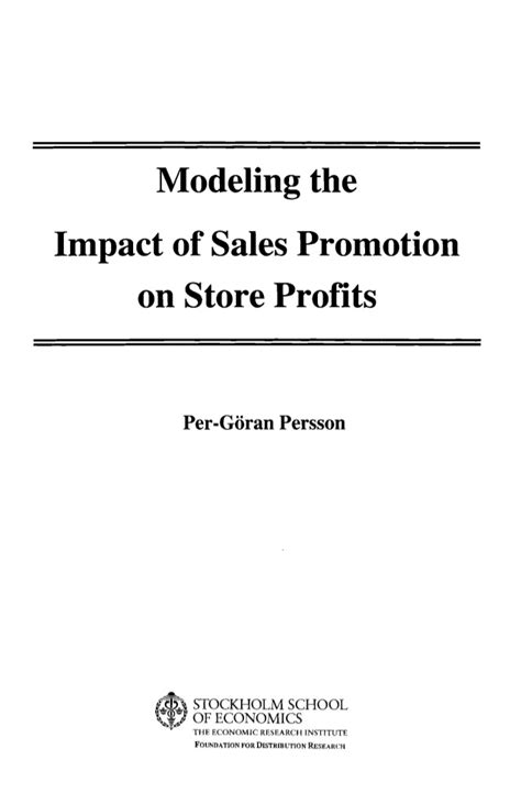 research the heritage foundation research paper on sales promotion strategies research