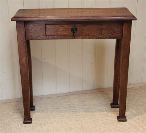 Vintage Hallway Table Slim Oak Arts And Crafts Style Table 295419 Sellingantiques Co Uk