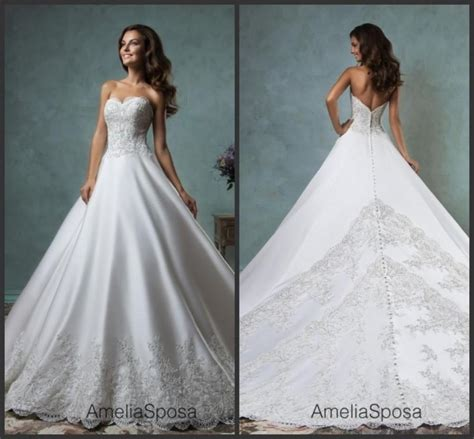 Jewelly Silk Dress Ori Amelia New new style amelia sposa 2016 wedding dresses sweetheart