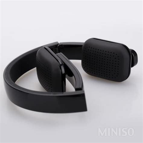 Headset Bluetooth Miniso Bluetooth Wireless Headband Headset Black Miniso Australia