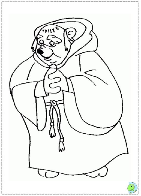 Robin Hood Coloring Page Dinokids Org Disney Robin Coloring Pages