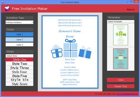 free invitation creator software free invitation maker