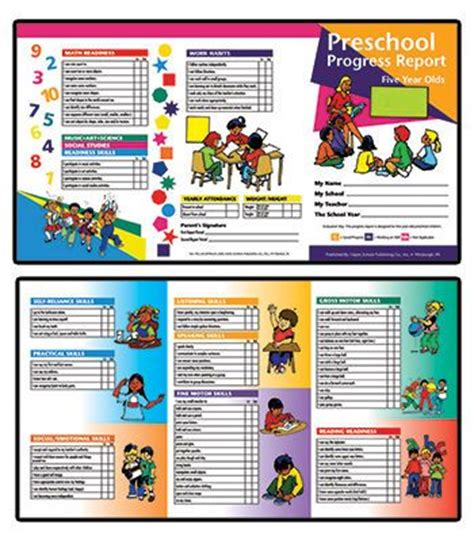 kindergarten report card sles 62 best progress reports images on