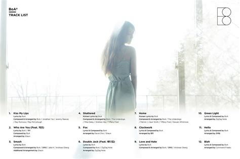 boa listen to my lyrics update boa releases song teasers tracklist for new