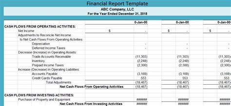 Financial Report Template Free Spreadsheettemple Accountants Report Template