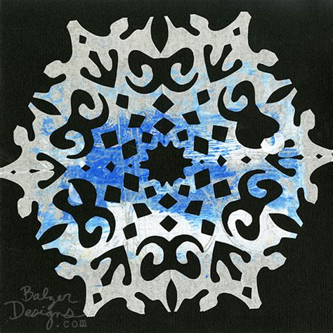 How To Make Paper Cut Designs - balzer designs paper snowflakes