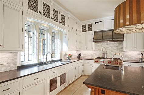 kitchen in a new english tudor residence architect