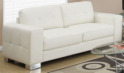 ivory leather loveseat 8223iv ivory bonded leather sofa 8223iv monarch