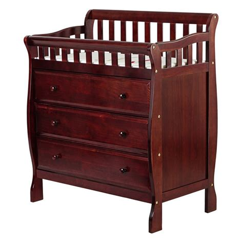 Cherry Changing Table Dresser On Me Changing Table And Dresser Cherry At Hayneedle