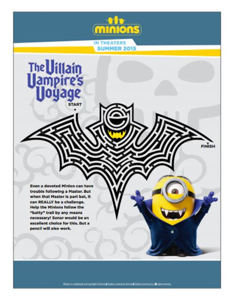 minions free printable activities and minions maze activities for file