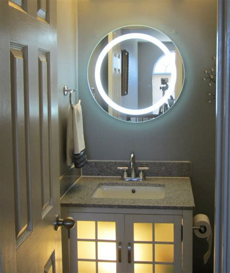 lighted vanity mirrors make up wall mounted 24 quot round mam1d24 ebay