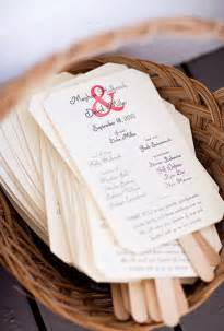 Homemade Wedding Programs Diy Wedding Program Fans Wedding Invites Amp Stationery Photos Brides Com