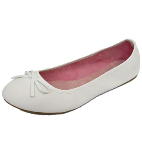 flat womens shoes womens flat white slip on shoes ballet ballerina