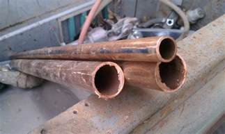 four different alternatives of copper tubing