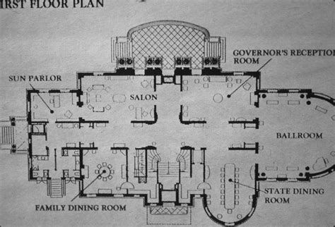 How To Create A Floor Plan In Word Governor S Mansion Note On Slide First Floor Plan