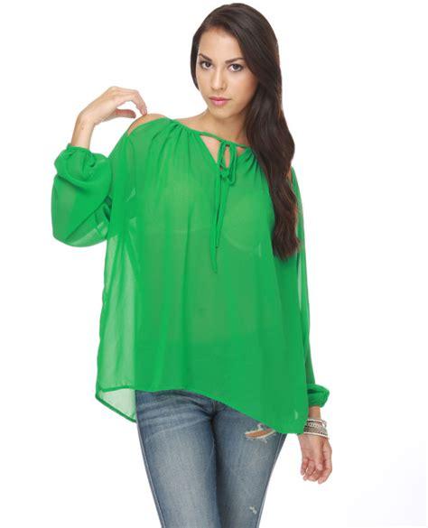 Fashion Shirt Jy773610 Green what to wear with green tops careyfashion