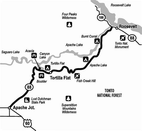 apache trail map apache trail azoffroading