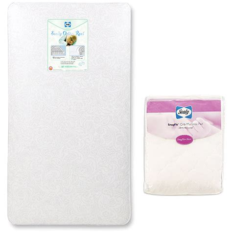 Baby Mattress At Walmart by Sealy Baby Crib Toddler Mattress With Mattress Pad Value