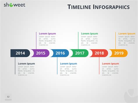 powerpoint timeline template free download 5 event timeline
