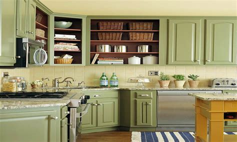 green kitchen cabinet green countertop with white cupboards green painted