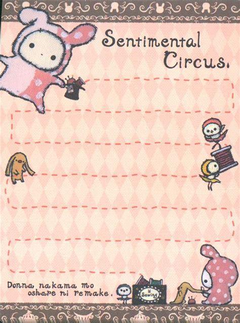 imagenes de sentimental circus kawaii sentimental circus mini memo pad circus animals