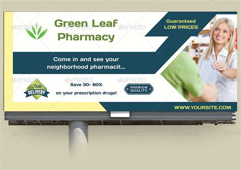 billboard design template pharmacy billboard template by owpictures graphicriver