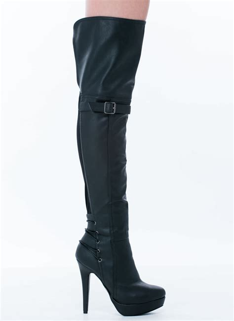 lace you there thigh high boots cognac black gojane