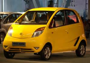 new cheapest car in india file tata nano yellow jpg wikimedia commons