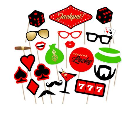 Free Printable Casino Photo Booth Props | printable casino photo booth props las vegas weekend props
