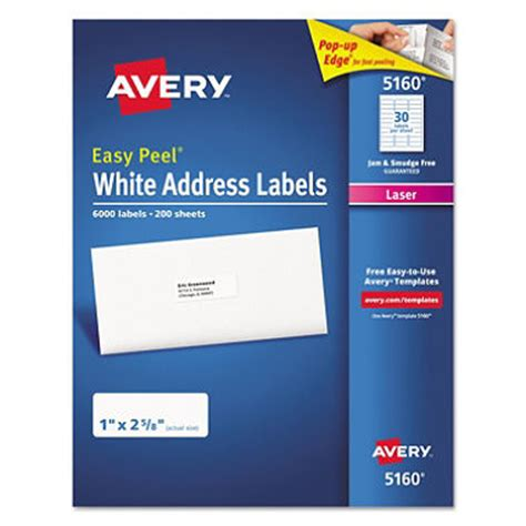 1 x2 5 8 label template avery 174 5160 easy peel address labels laser 1 x 2 5 8
