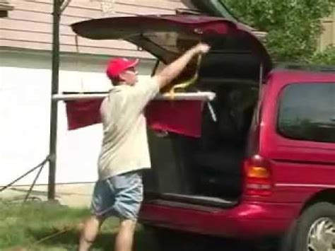 Small Retractable Awning Tailgating And Dog Show Portable Canopy Awning Invention
