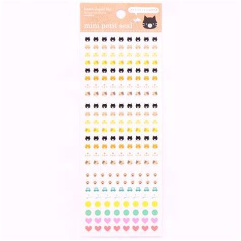 Steker Mini Jumbo Tpm mini katze pfote auto flugzeug kalender sticker aus japan tiersticker sticker schreibwaren