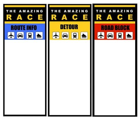 amazing race birthday templates great 11 year idea the amazing race birthday