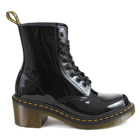 dr martens boots black parade heel smooth shoes