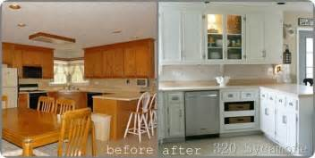 kitchen cabinet painting before and after amazing kitchen transformations diy