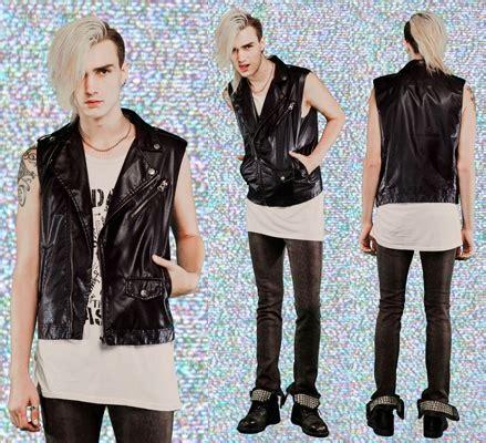 Vegi Blouse new mens sleeveless vegi leather moto jacket vest by lip