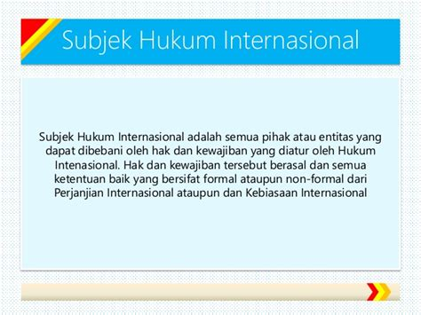 Hukum Investasi Internasional subjek hukum internasional dan hubungan hukum internasional dengan