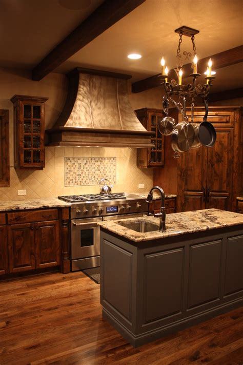 Kitchen Vent Hood Designs by Chic Copper Range Hoods Mode Denver Traditional Kitchen