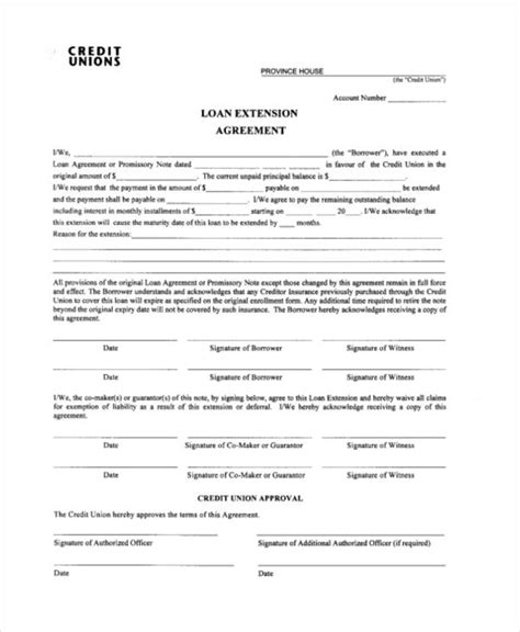 Contract Extension Template Ideal Vistalist Co Loan Extension Template