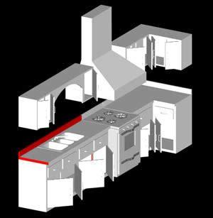 integral kitchen cabinet  dwg model  autocad