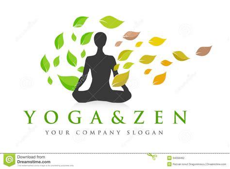 yoga imagenes logos zen yoga logo fotografia de stock imagem 34058462