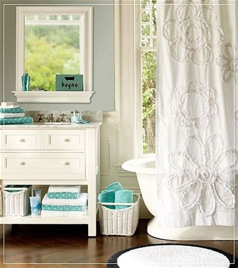 Teal And White Bathroom White Teal Bathroom Home Accents 2 Pinterest