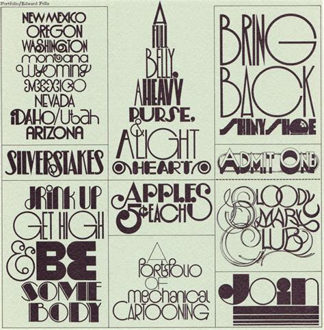 Design Art Font | typography art deco