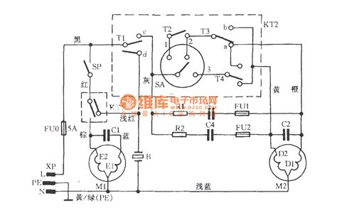 simple washing machine motor wiring diagram wiring