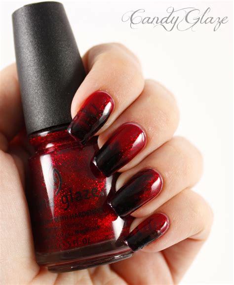 red  black nails     pretty designs
