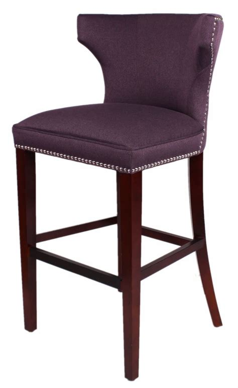 pattern fabric counter stools dexter fabric barstool cinnamon legs in merlot npd