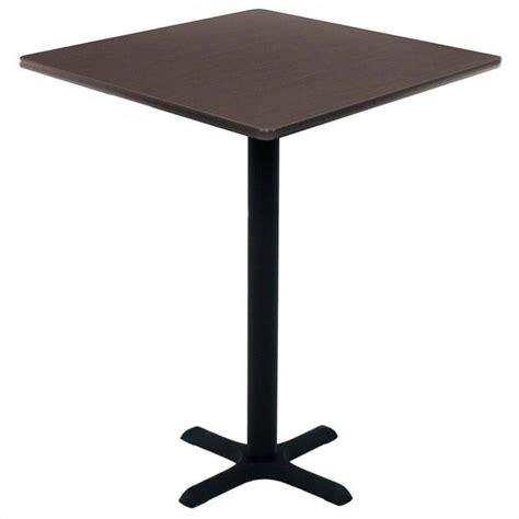 regency square cafe table in mocha walnut