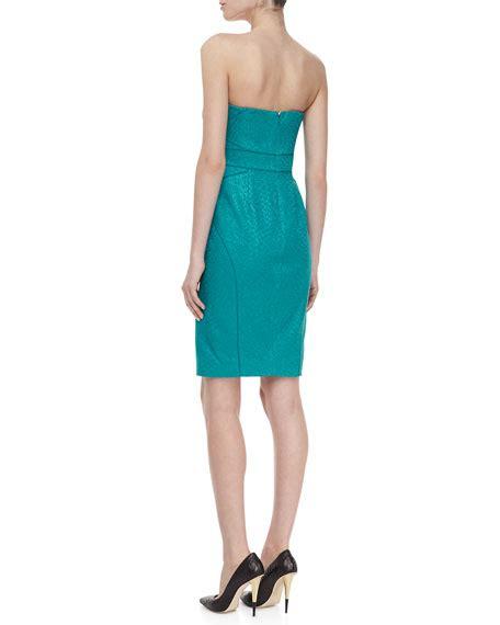 Bright Green Cocktail Dress - zac posen strapless cocktail dress bright green