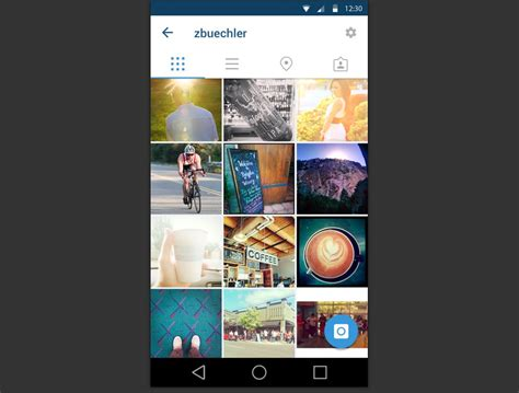 instagram layout github 70 material design resources for android developers