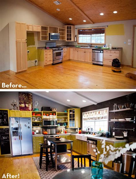 cheap kitchen makeover ideas before and after before and after 25 budget kitchen makeover